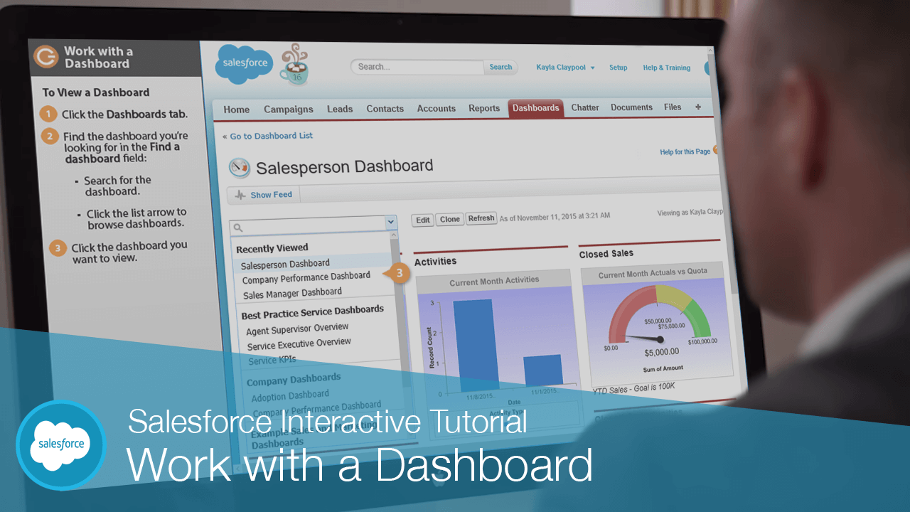 Work with a Dashboard