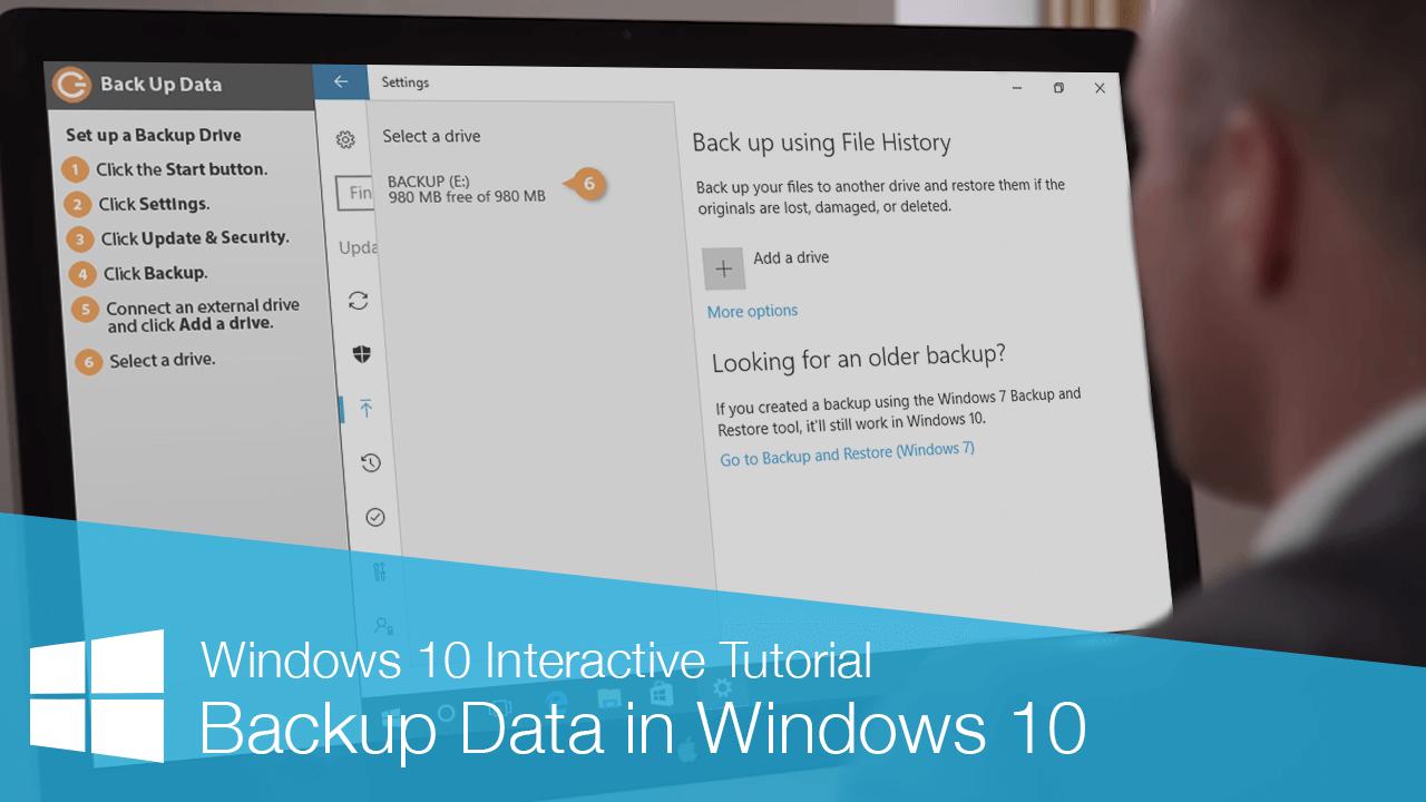 Backup Data in Windows 10