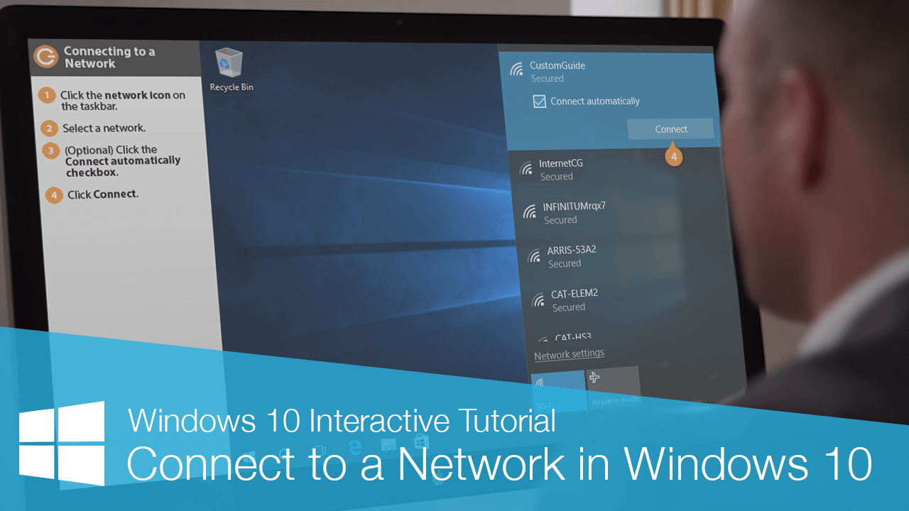Connect to a Network in Windows 10