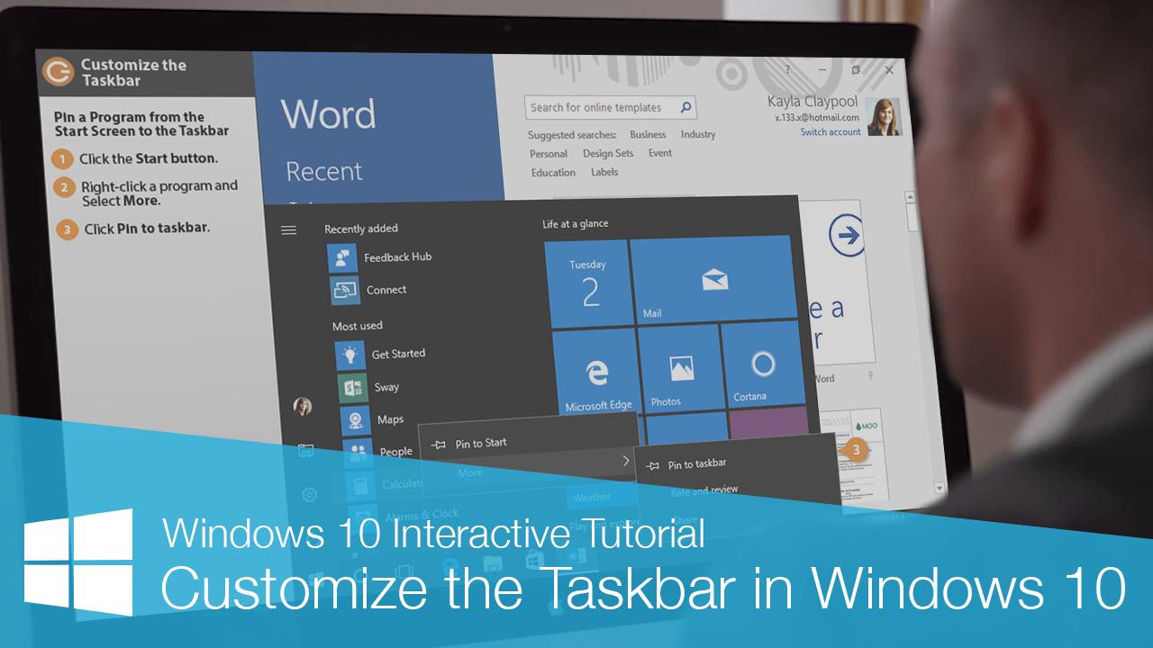 Customize the Taskbar in Windows 10