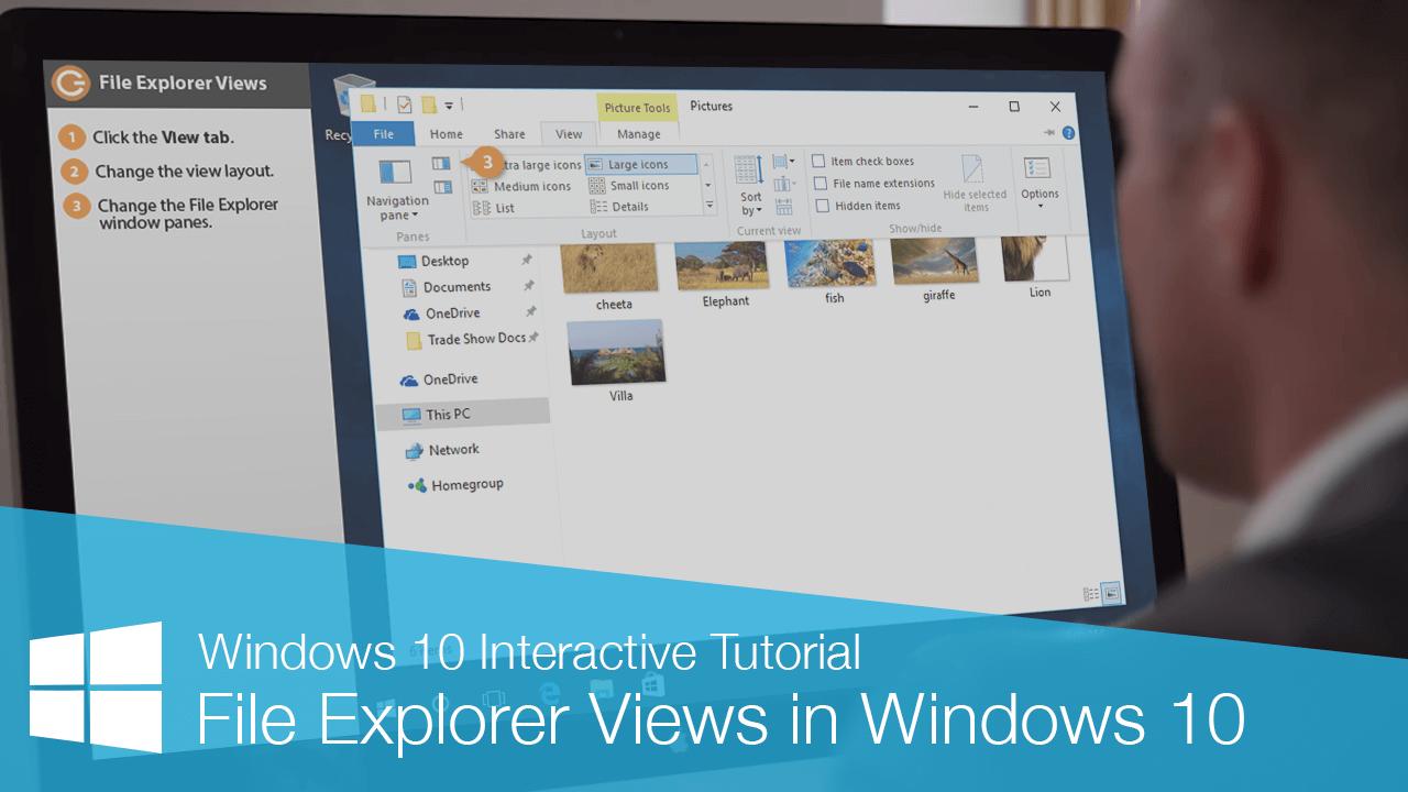 File Explorer Views in Windows 10