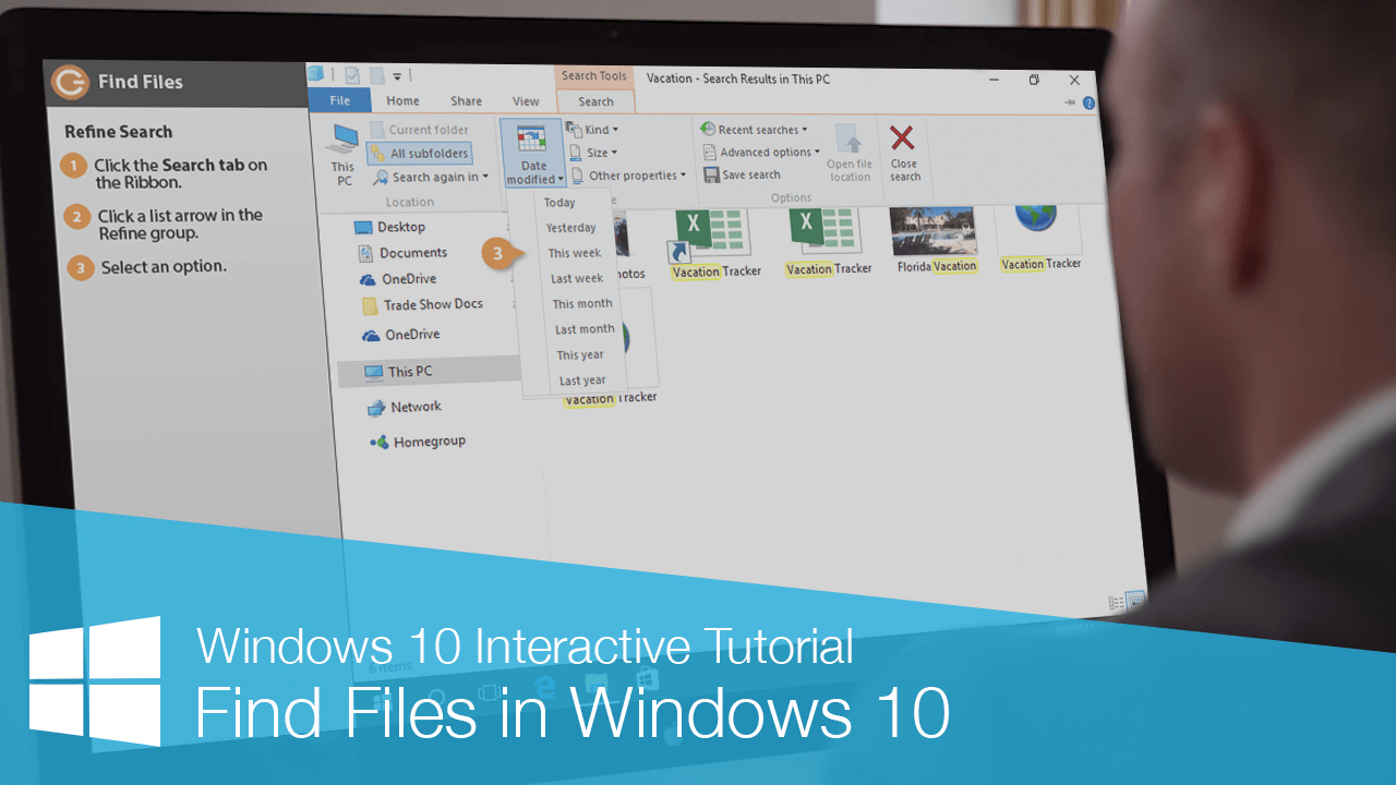 Find Files in Windows 10