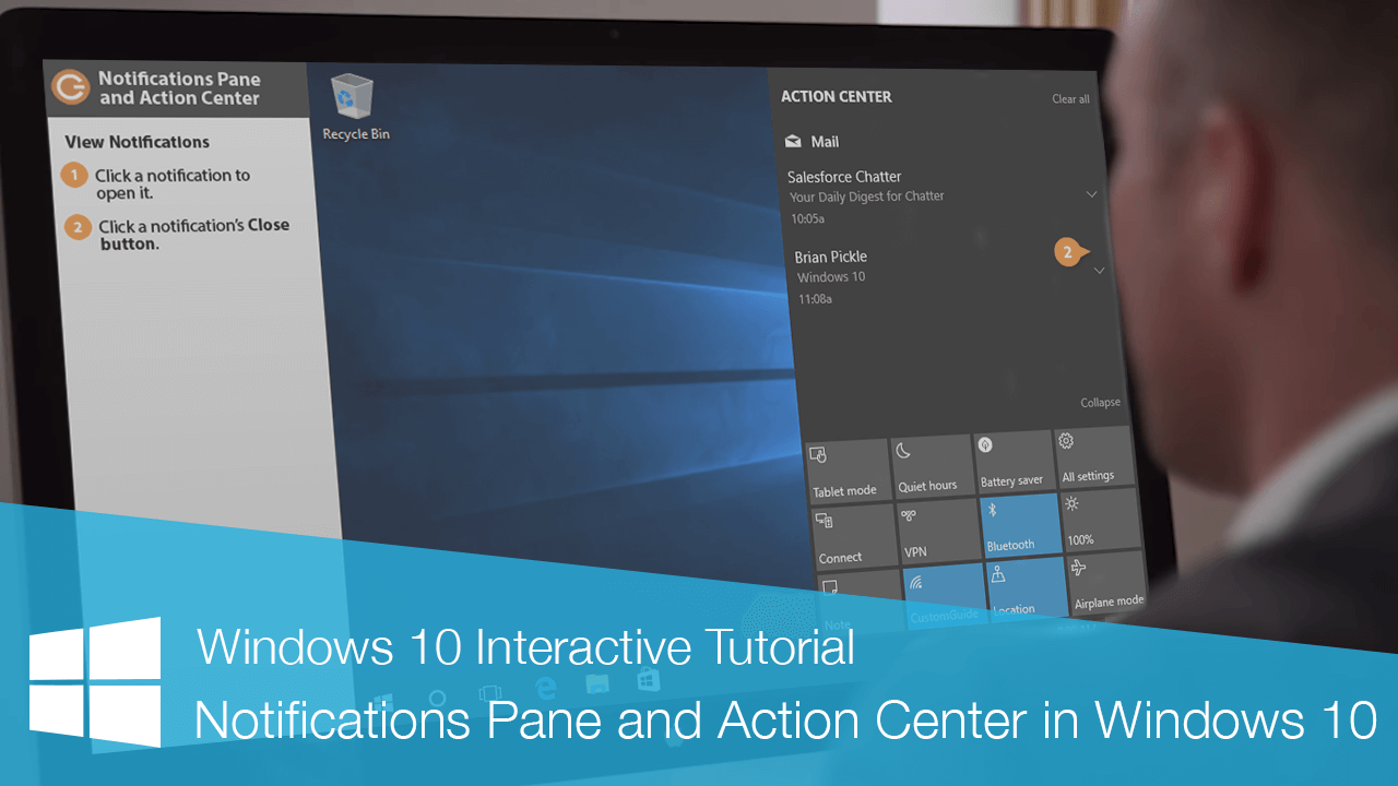 Notifications Pane and Action Center in Windows 10
