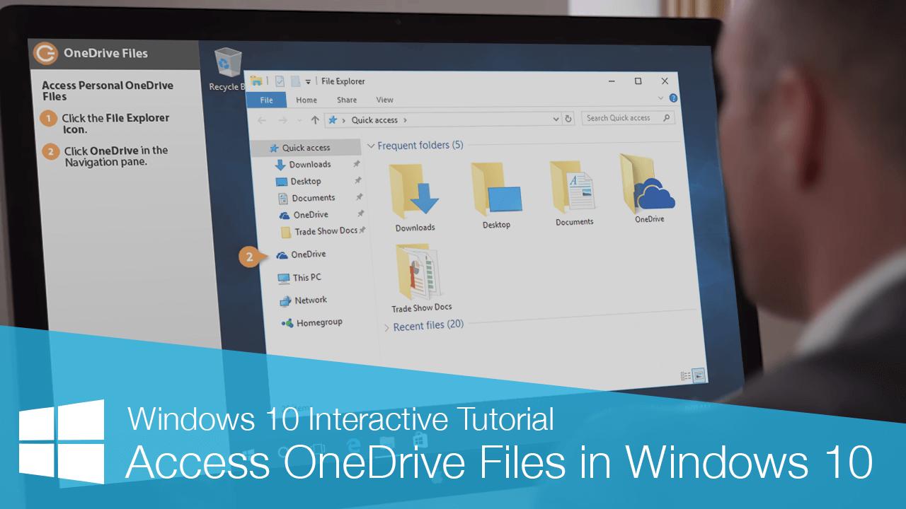Access OneDrive Files in Windows 10