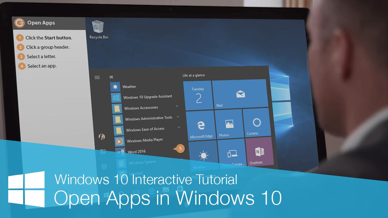 Open Apps in Windows 10