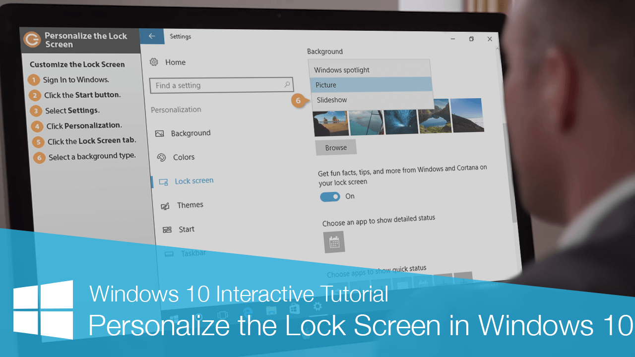 Personalize the Lock Screen in Windows 10