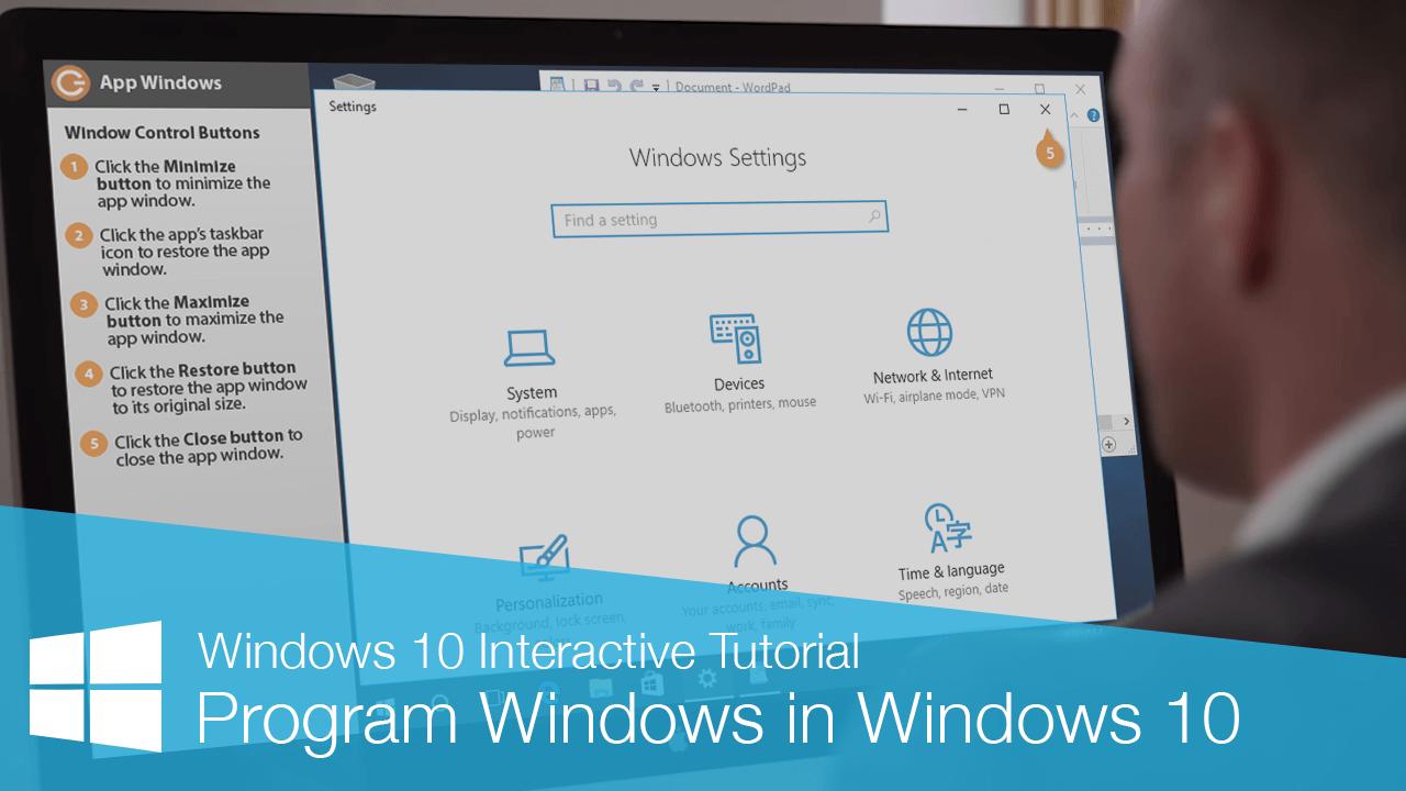 Program Windows in Windows 10