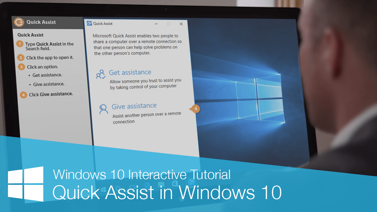 Quick Assist in Windows 10