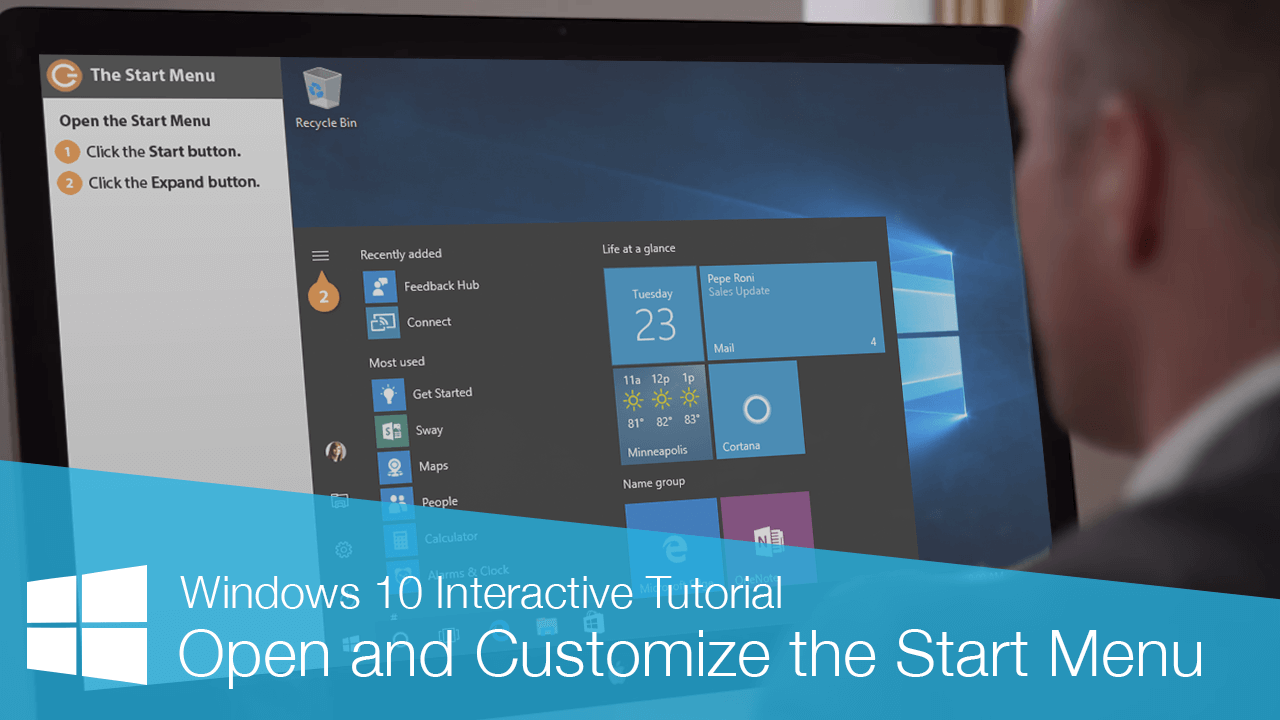 Open and Customize the Start Menu