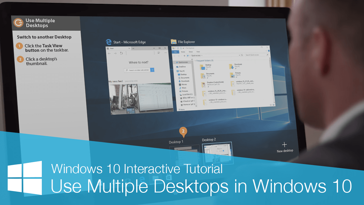 Use Multiple Desktops in Windows 10
