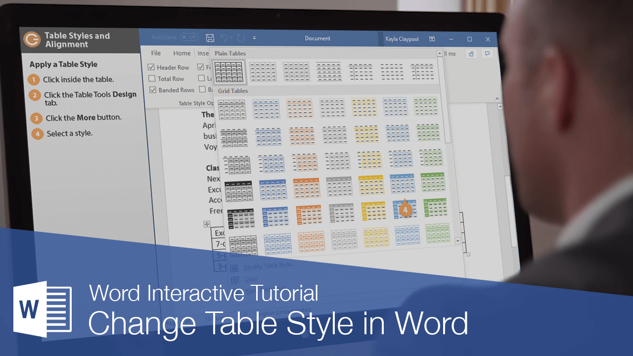 Change Table Style in Word