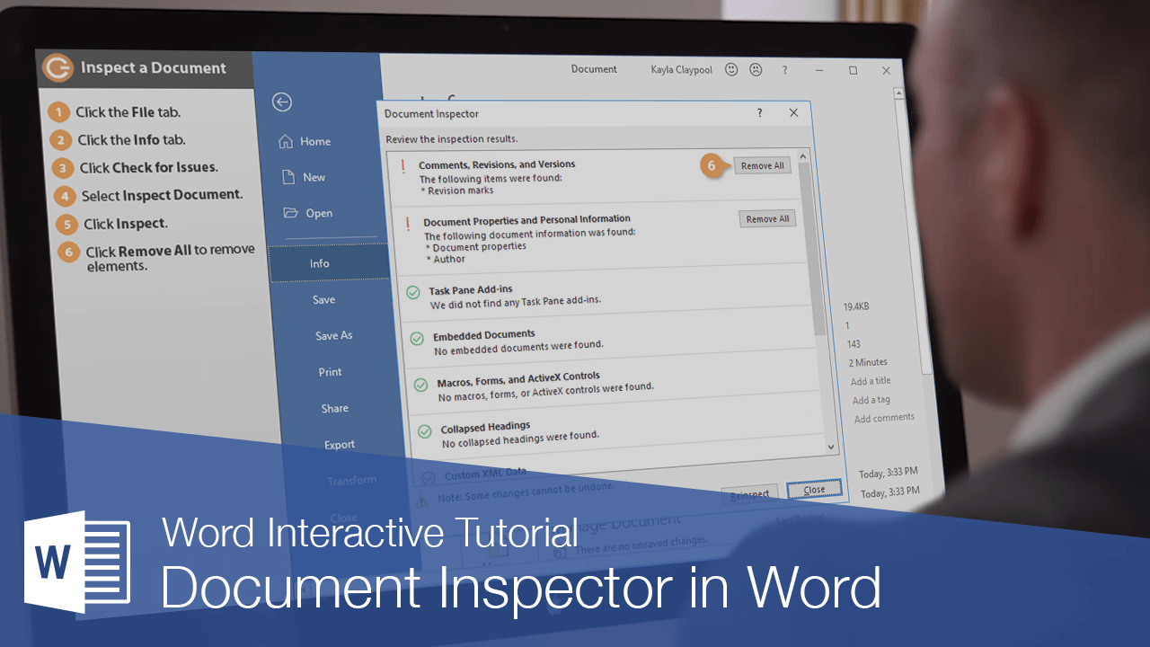 Document Inspector in Word