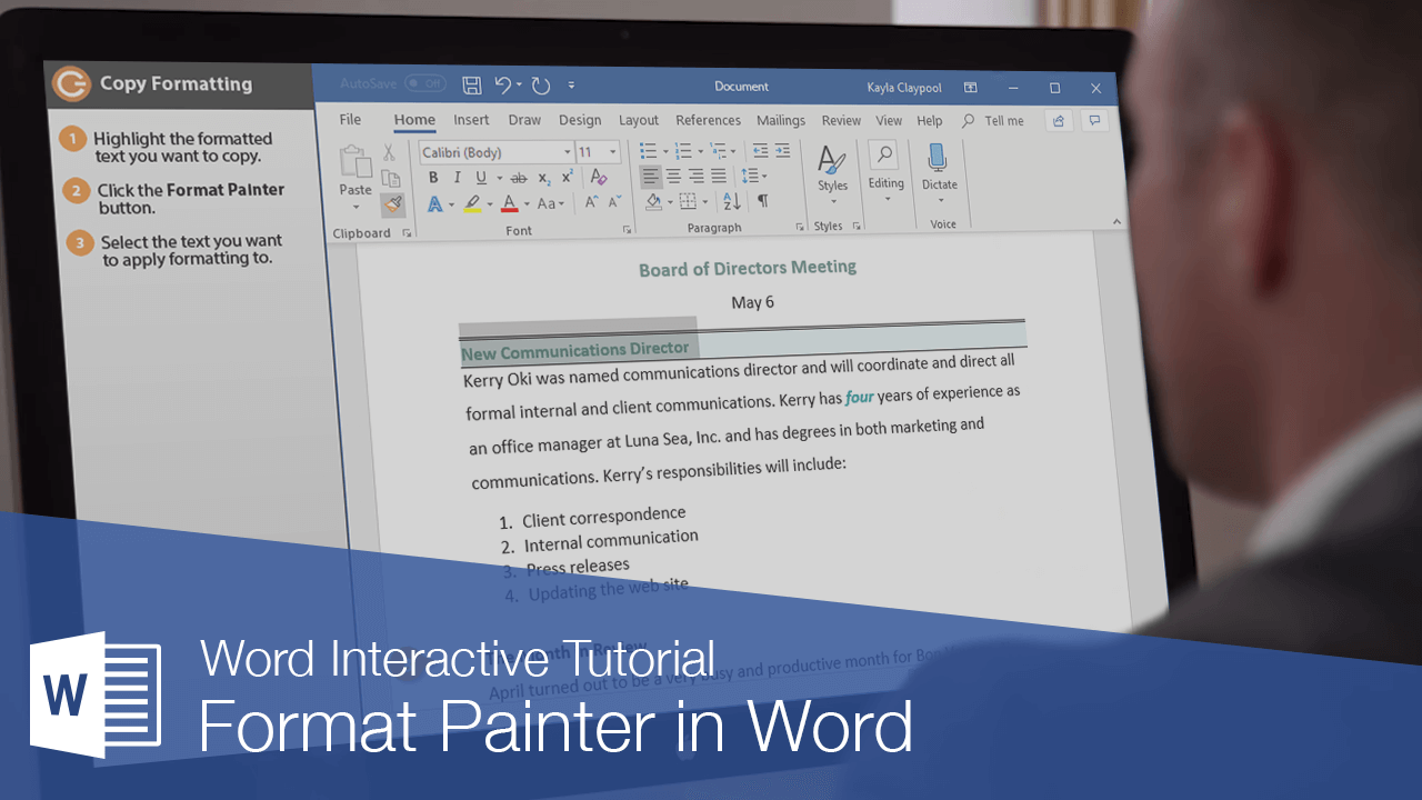 Format Painter in Word
