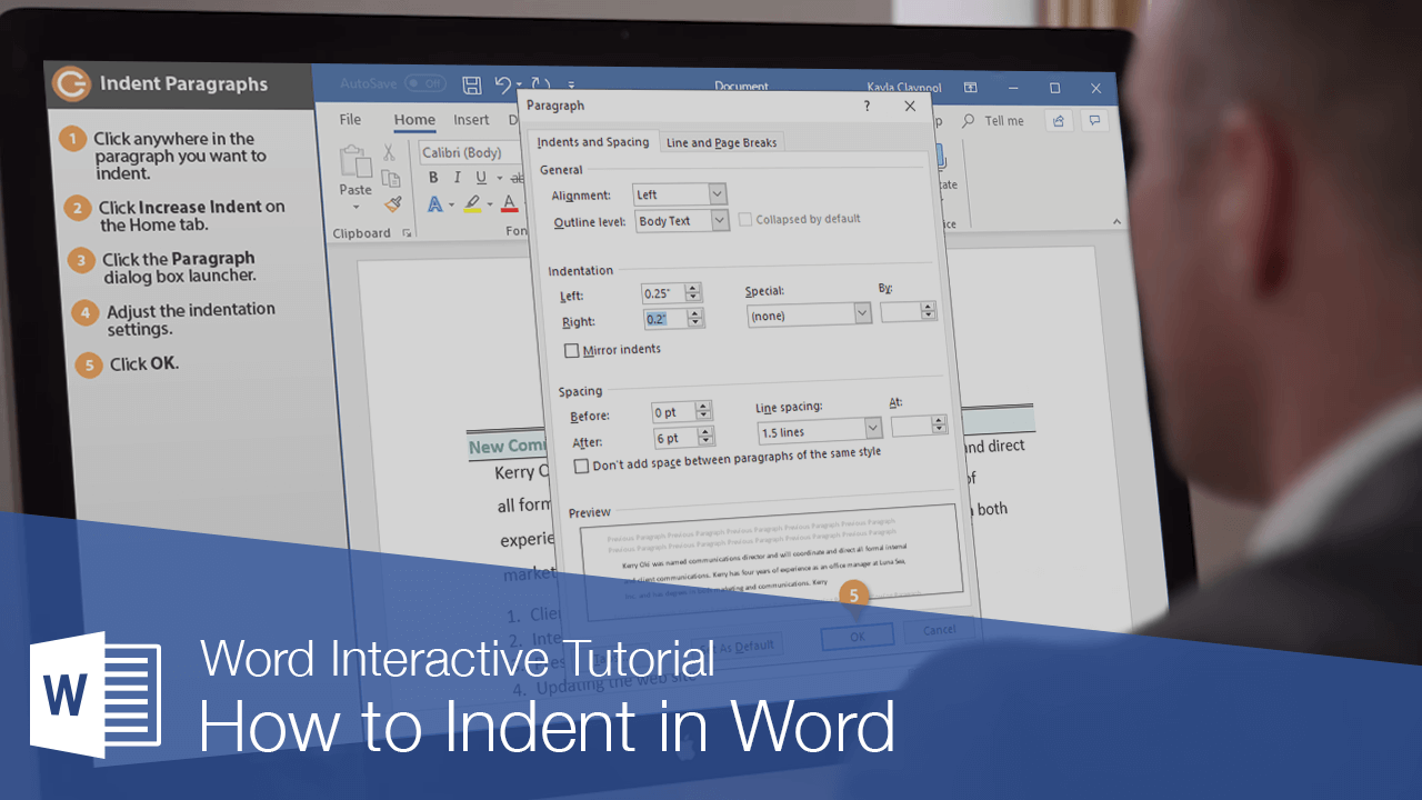 How to Indent in Word