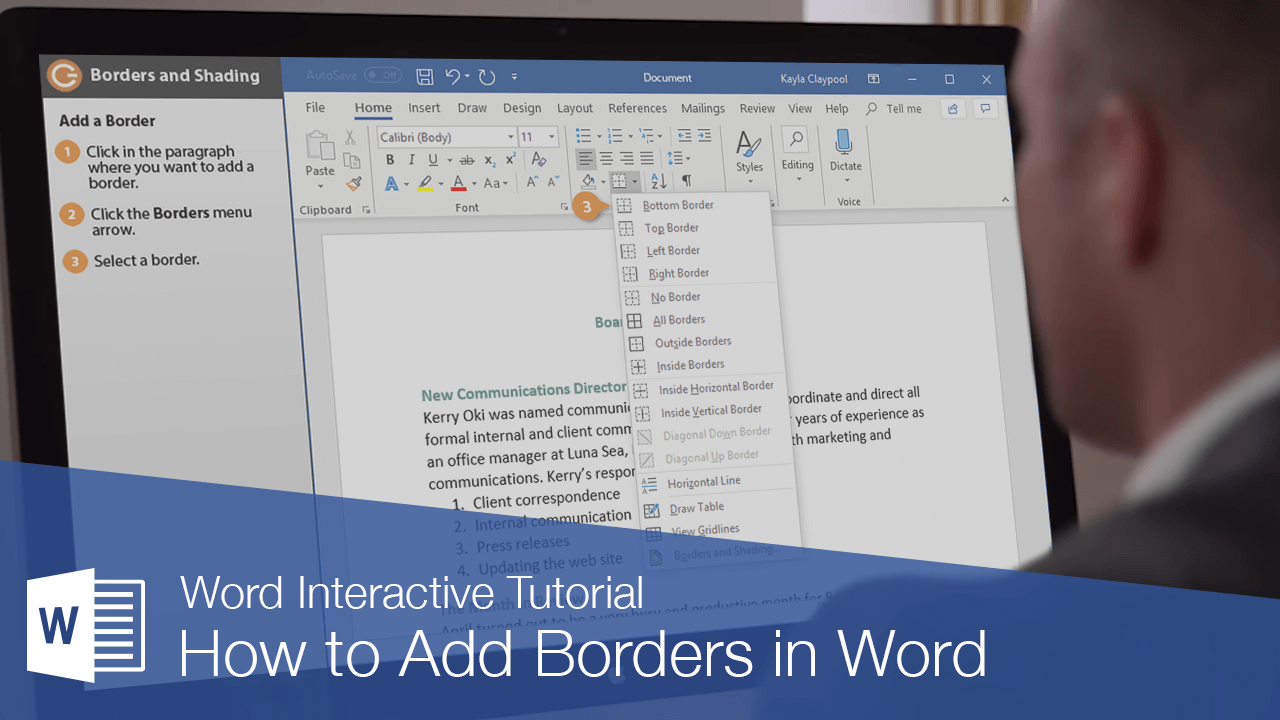 How to Add Borders in Word