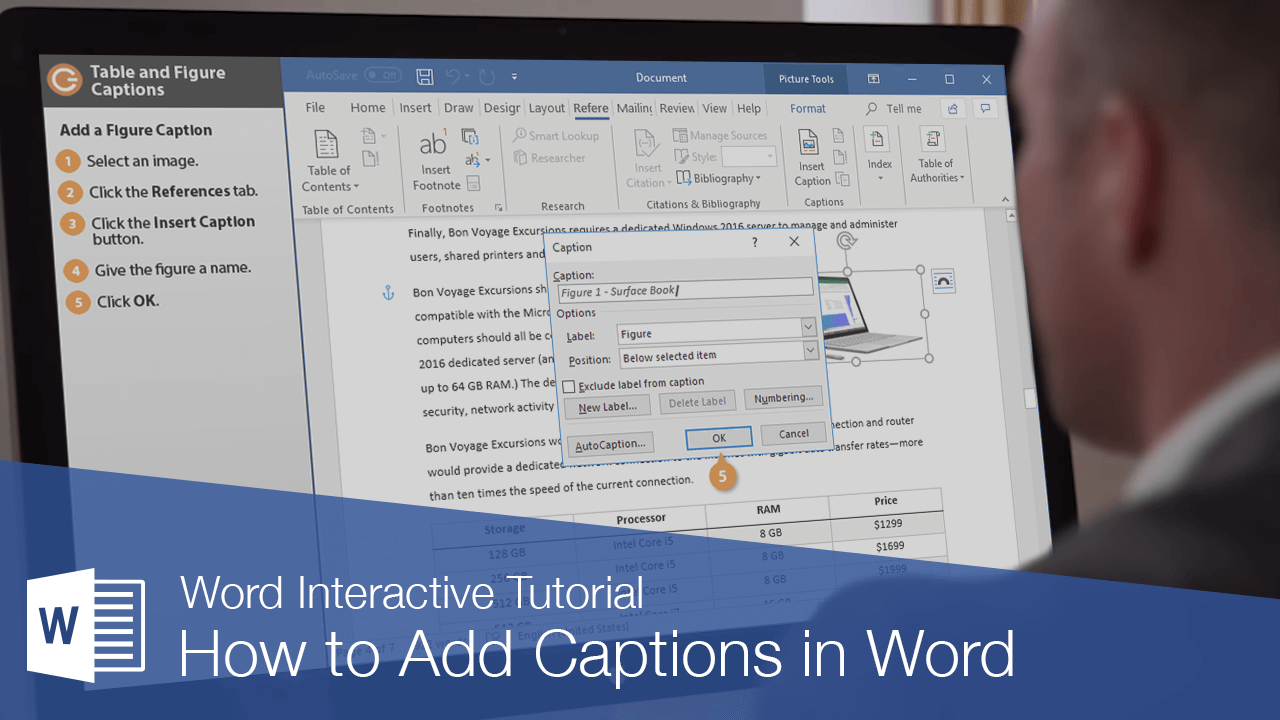 How to Add Captions in Word