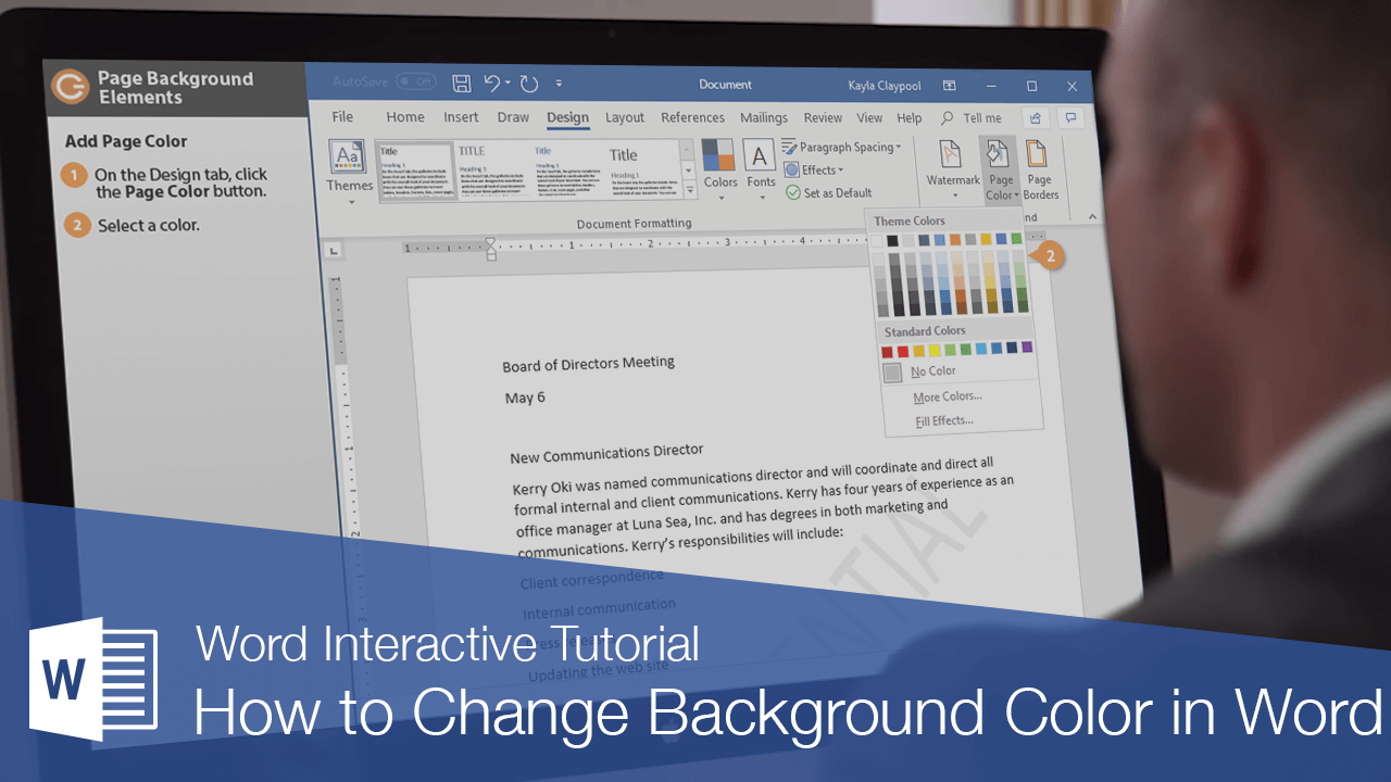 How to Change Background Color in Word