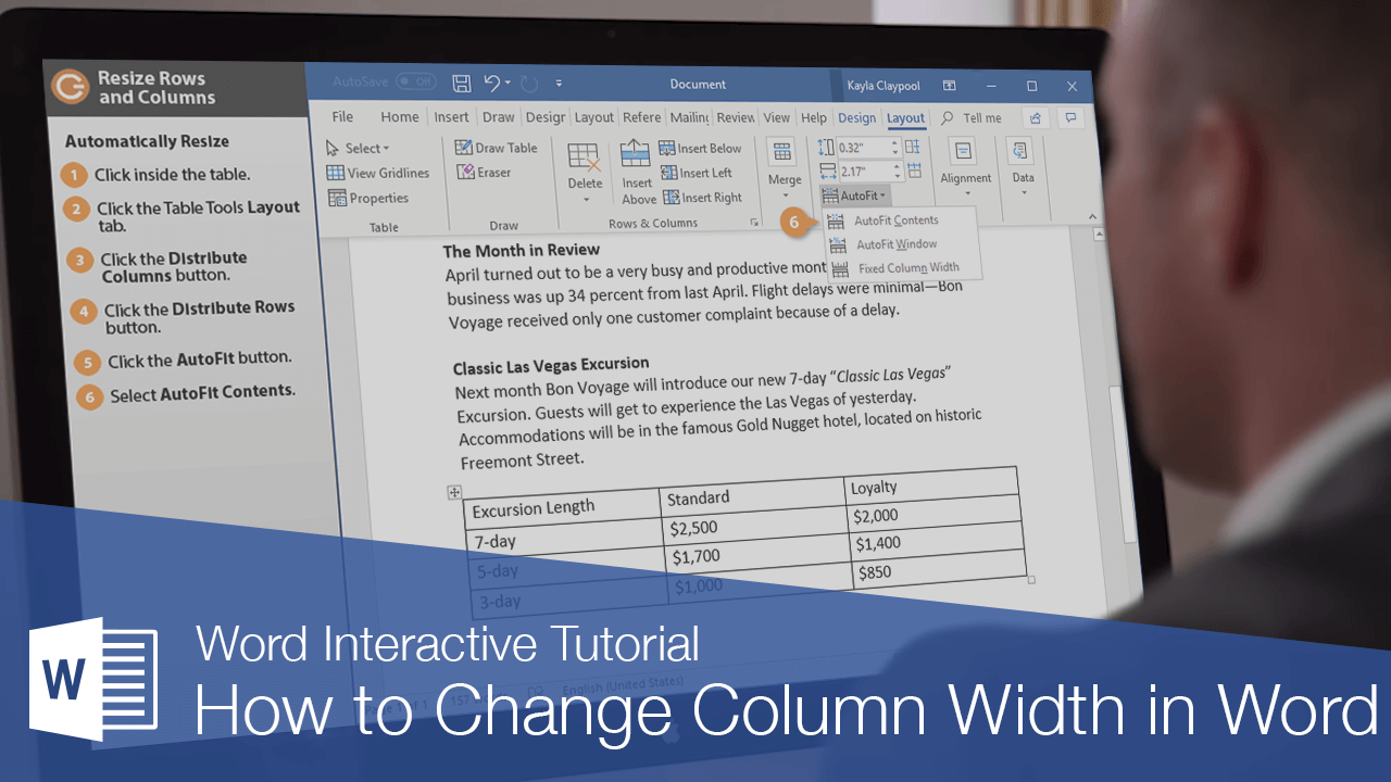 How to Change Column Width in Word Table