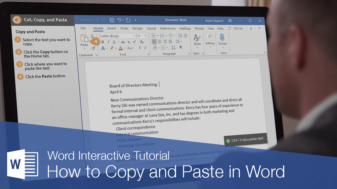 How to Copy and Paste in Word
