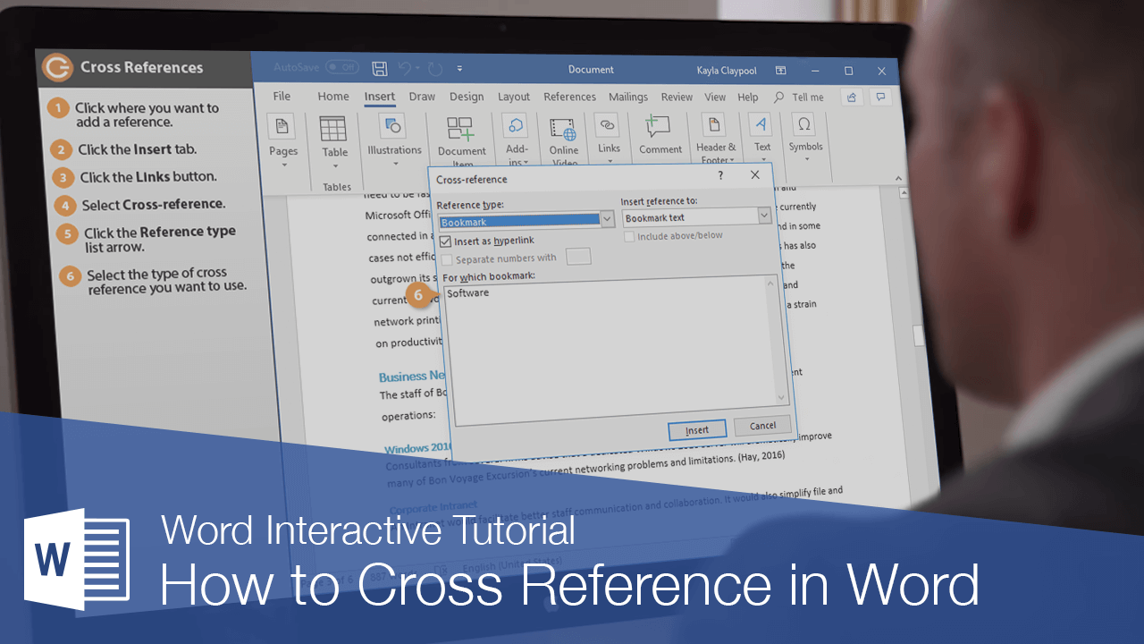 How to Cross Reference in Word