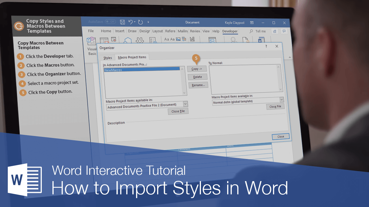 How to Import Styles in Word