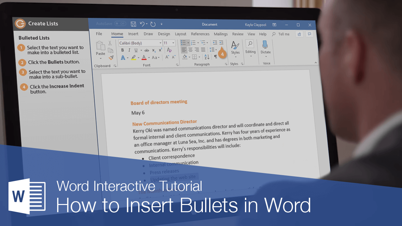 How to Insert Bullets in Word