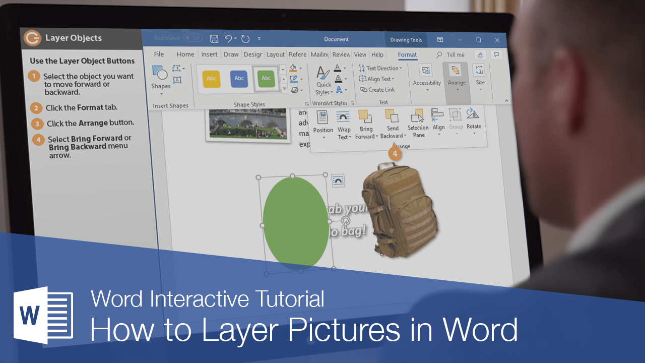 How to Layer Pictures in Word
