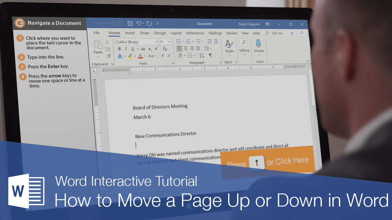 How to Move a Page Up or Down in Word
