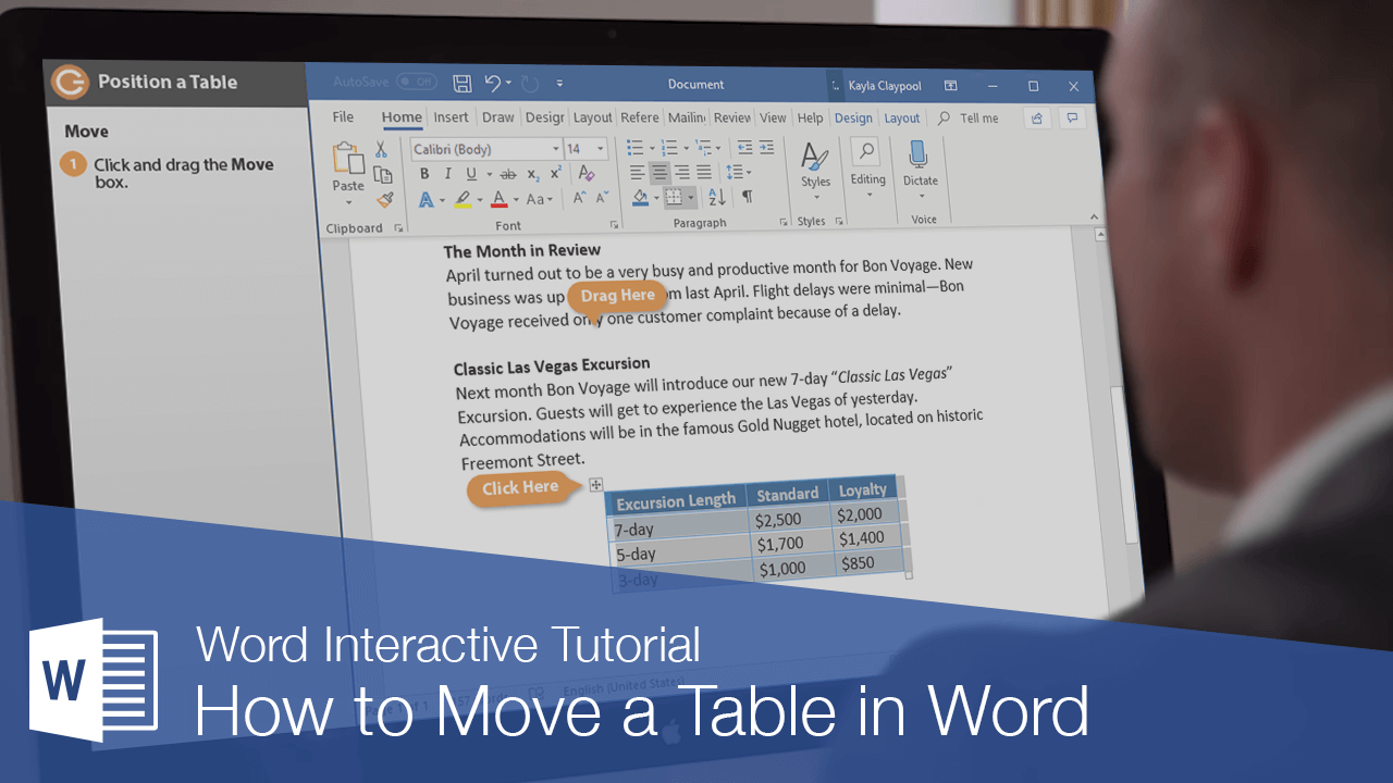 How to Move a Table in Word