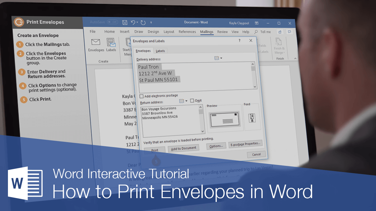 How to Print Envelopes in Word