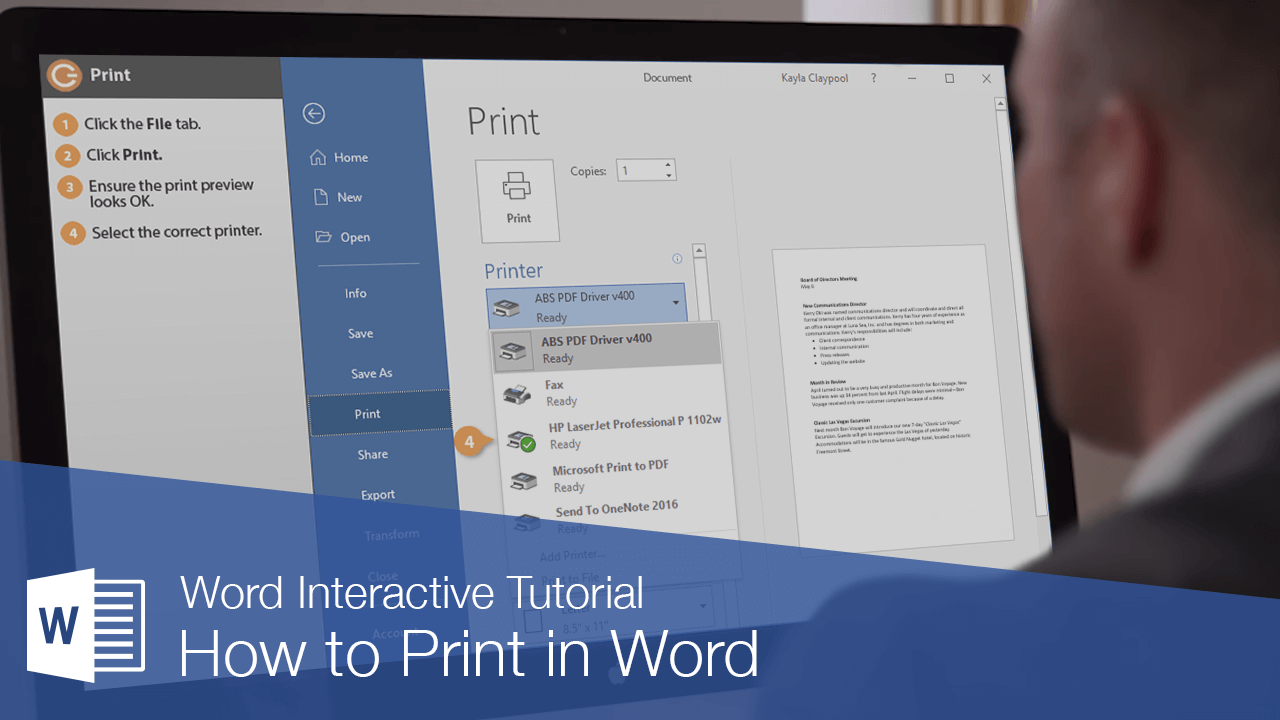 How to Print in Word
