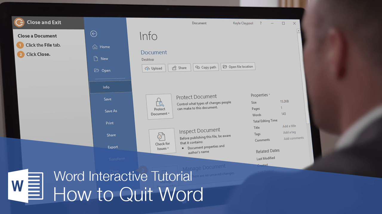 How to Quit Word