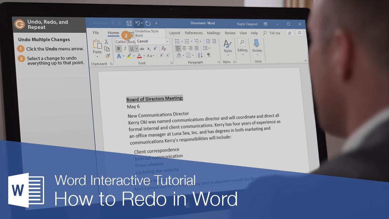 How to Undo & Redo in Word