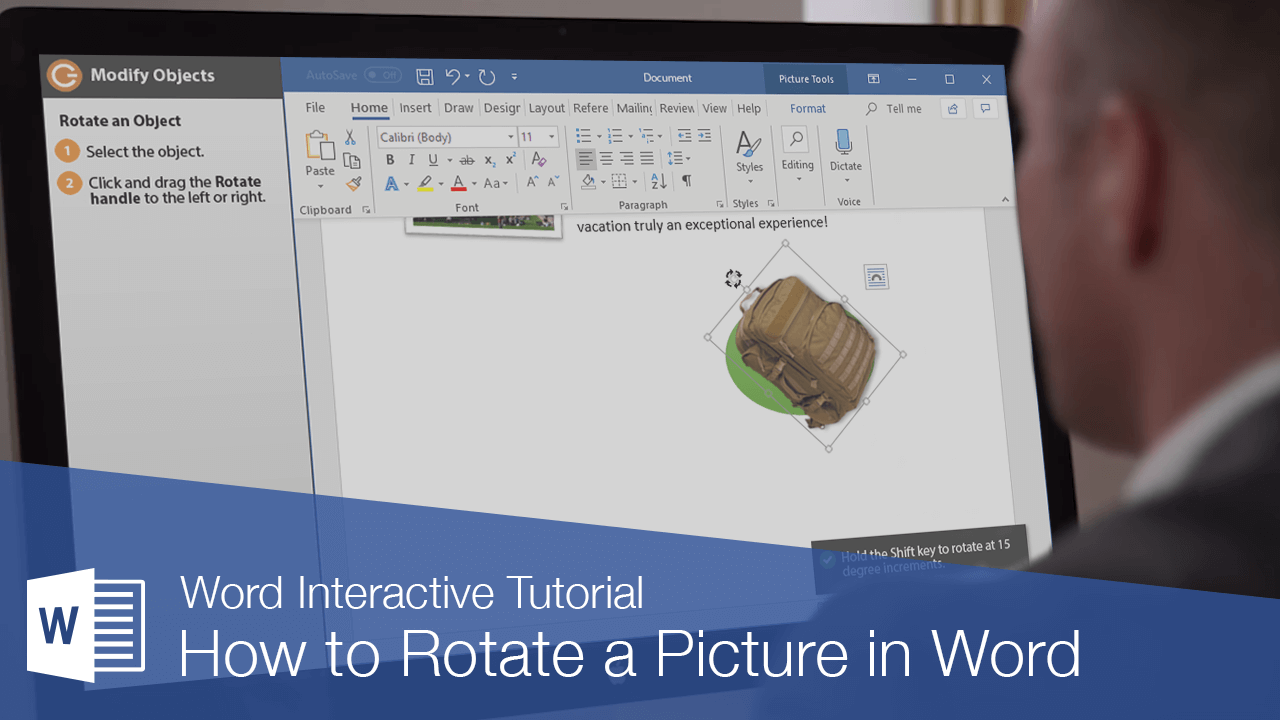How to Rotate a Picture in Word | CustomGuide