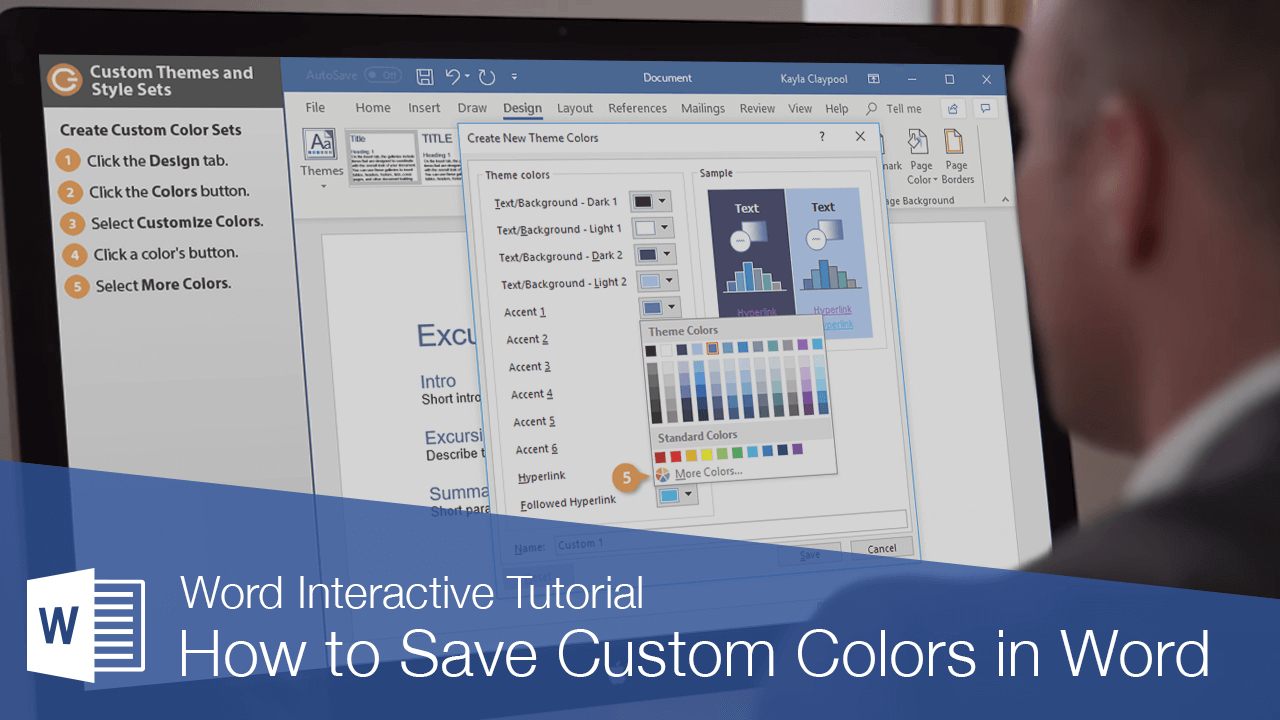 How to Save Custom Colors in Word