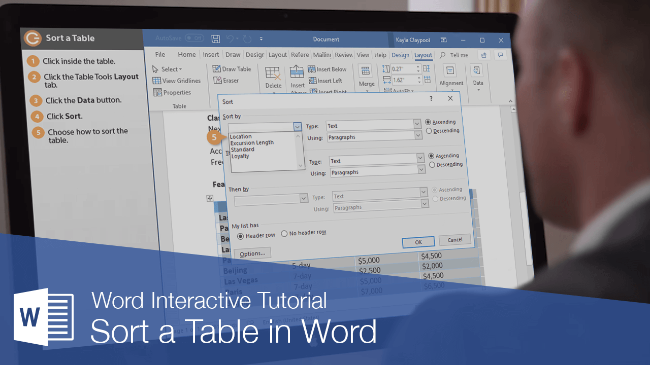 Sort a Table in Word
