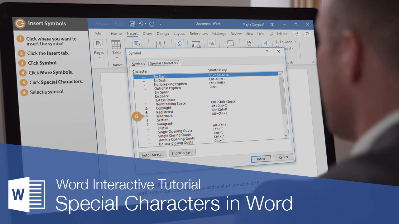 Special Characters in Word