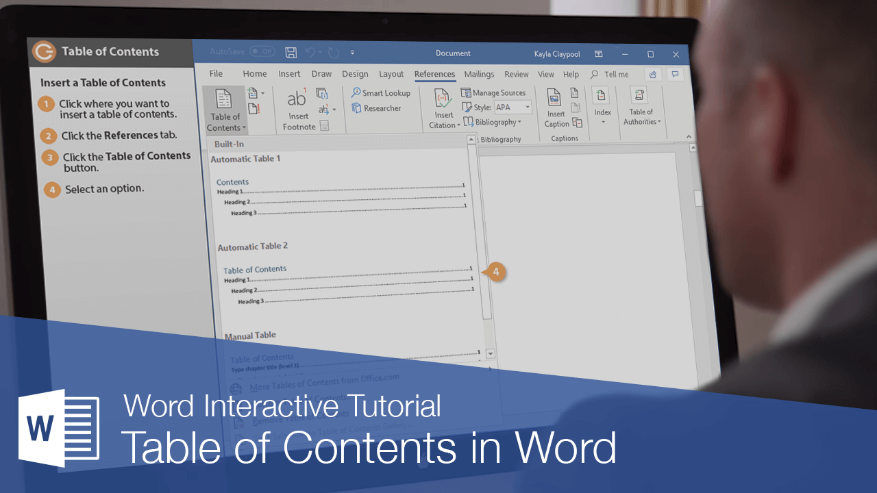 Table of Contents in Word