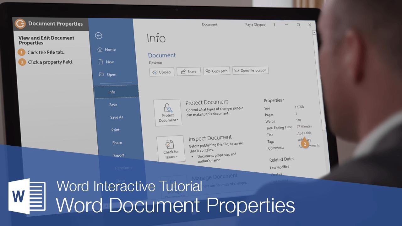 Word Document Properties