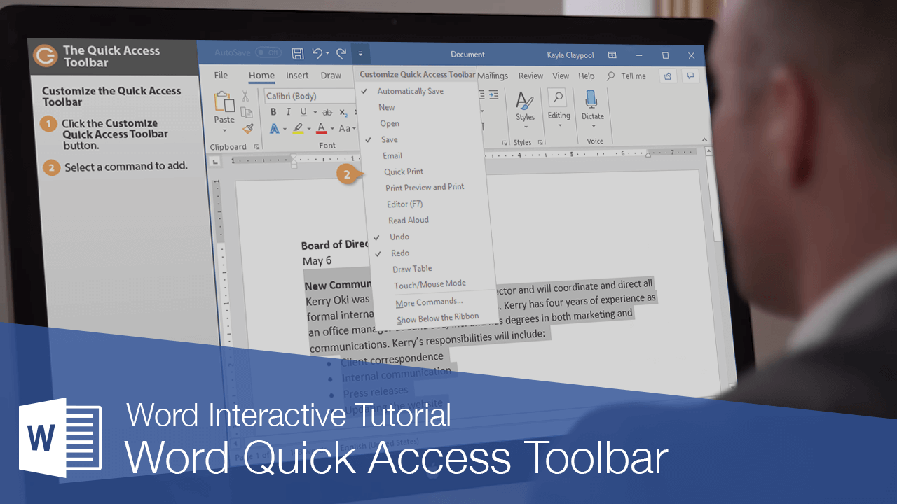 Word Quick Access Toolbar