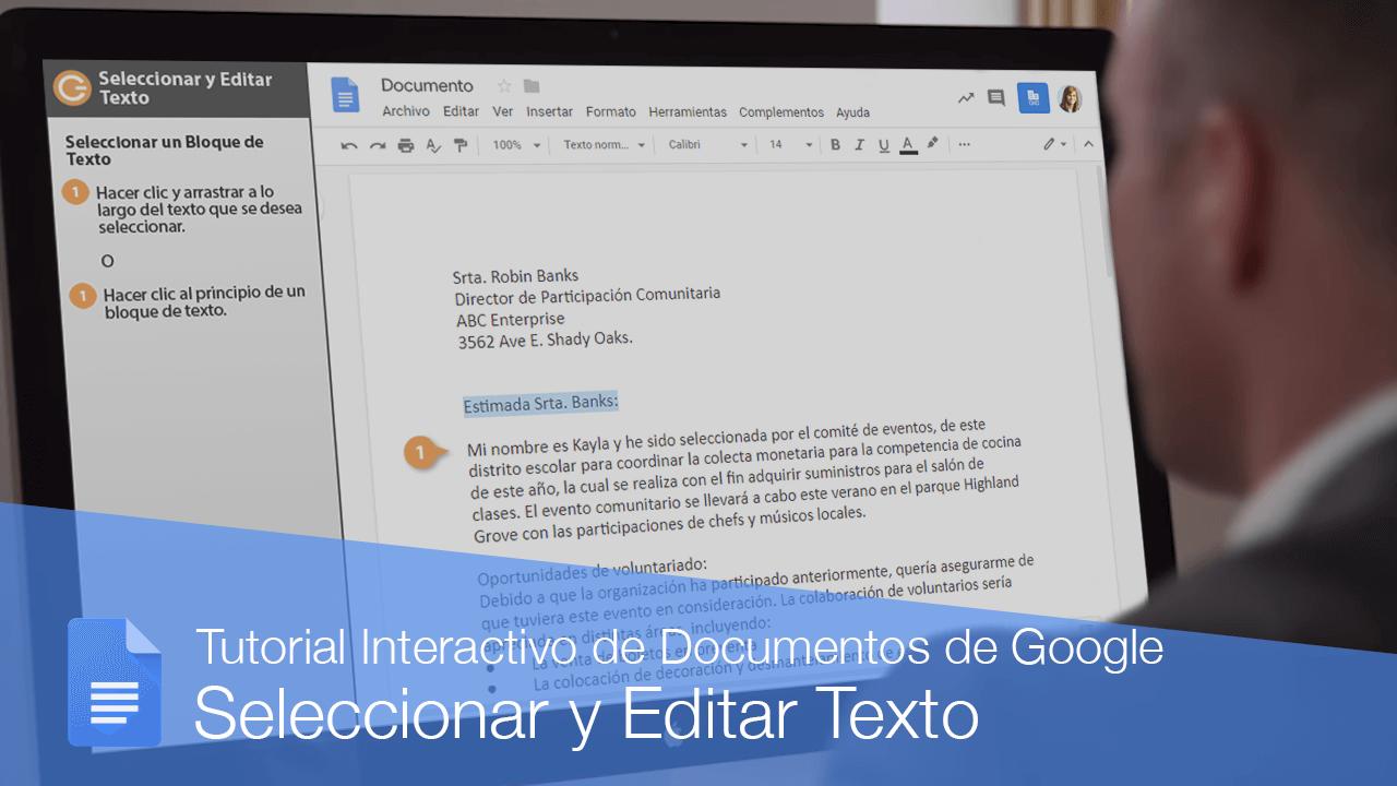 Seleccionar y Editar Texto