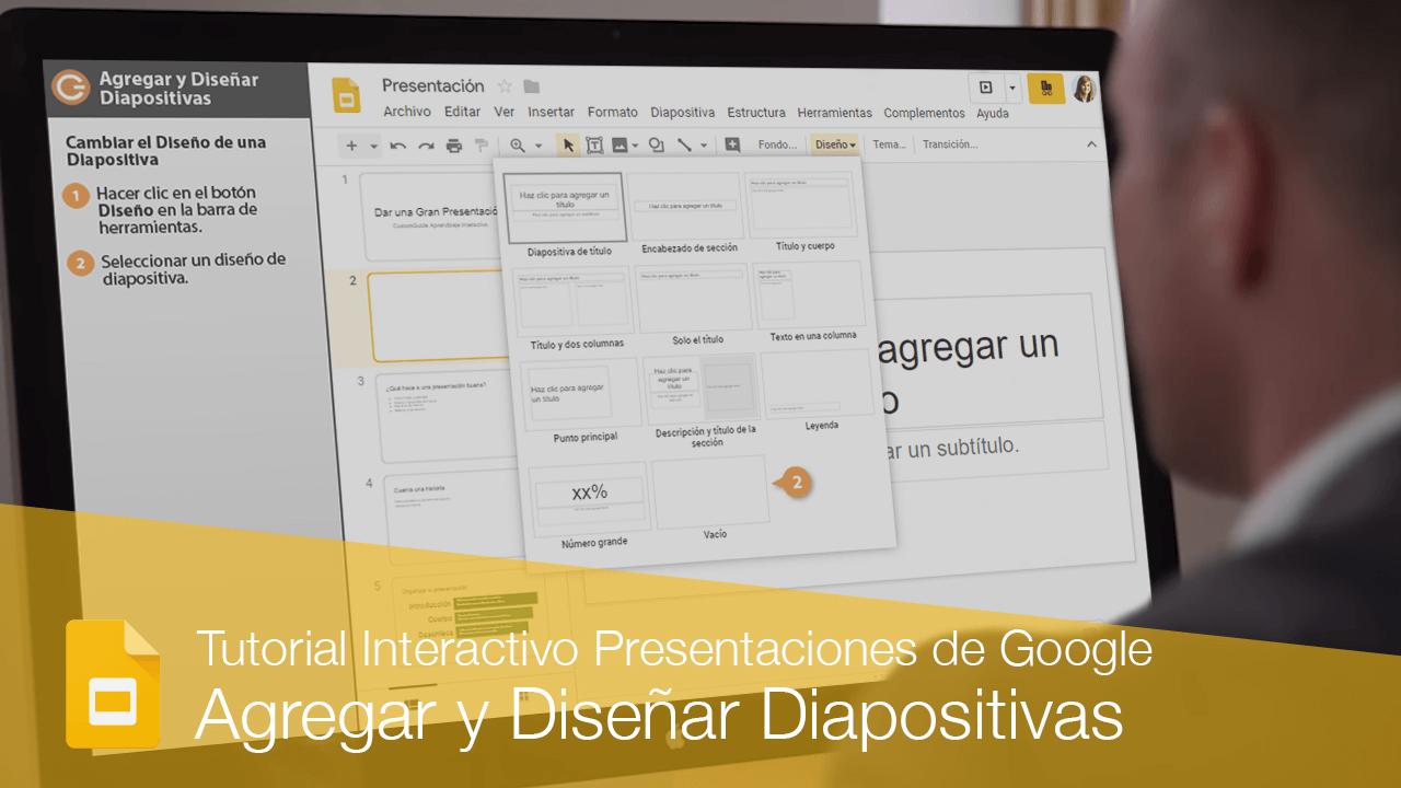Agregar y Diseñar Diapositivas