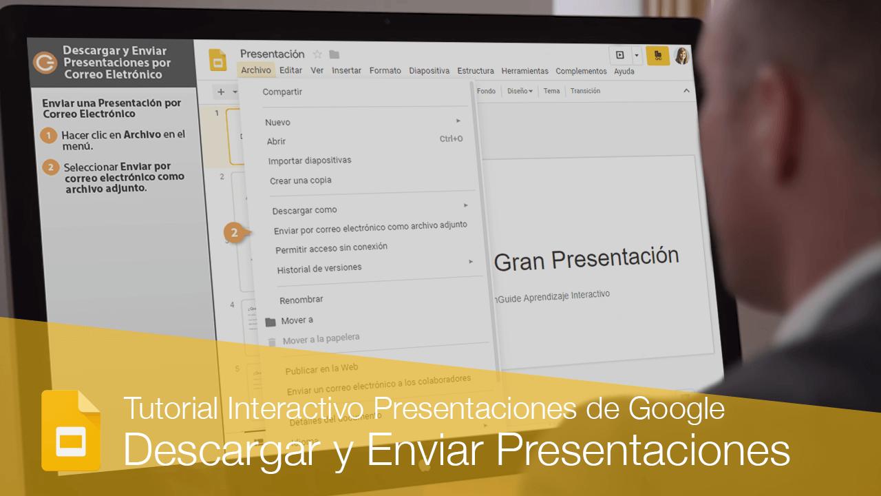 Descargar y Enviar Presentaciones por Correo Electrónico