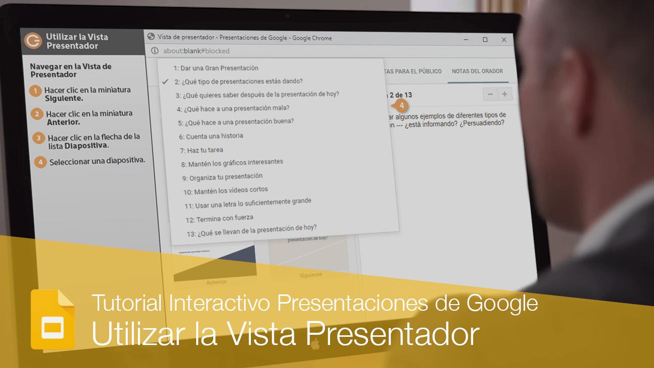 Utilizar la Vista Presentador