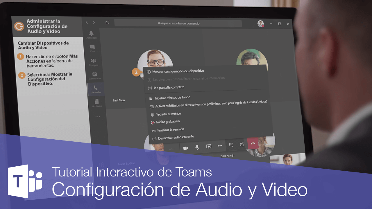 Administrar la Configuración de Audio y Video