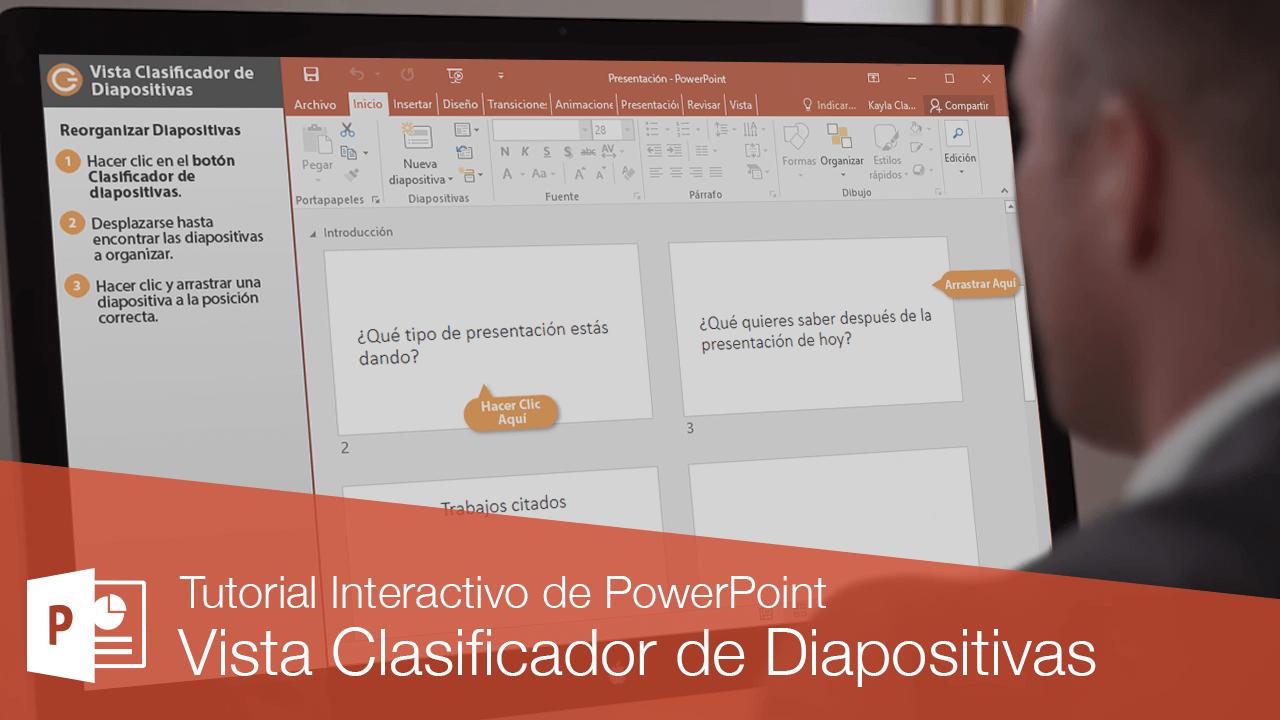 Vista Clasificador de Diapositivas