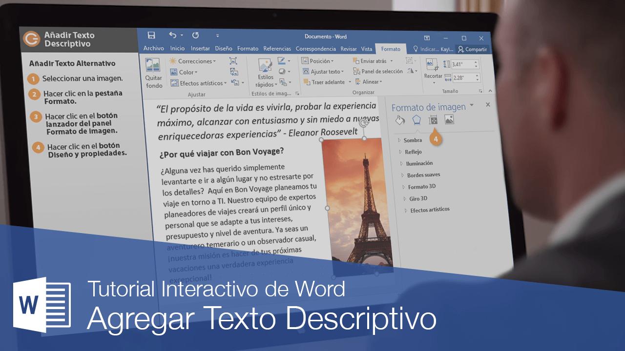 Agregar Texto Descriptivo