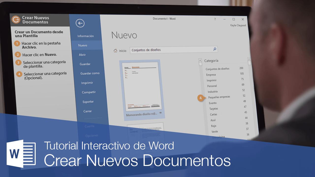 Crear Nuevos Documentos