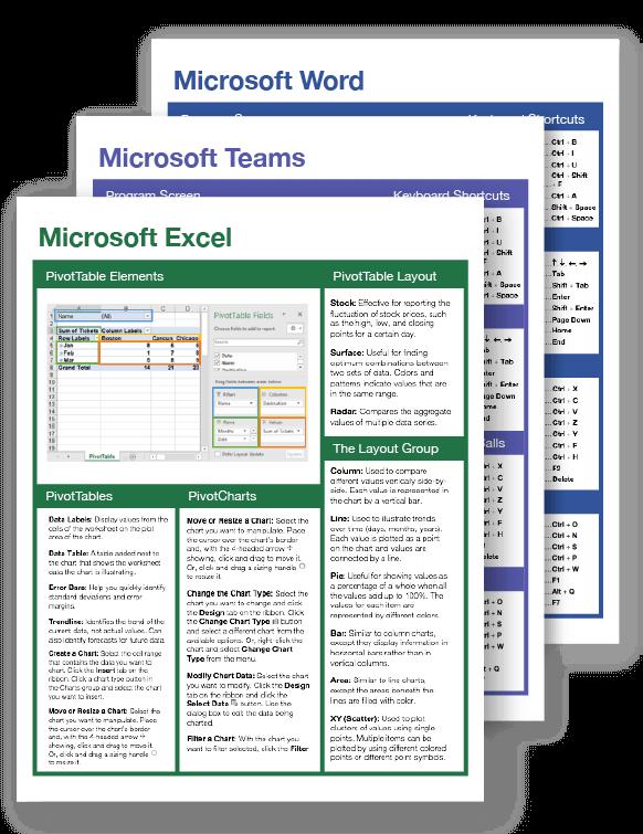Microsoft Office Cheat Sheets