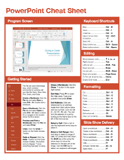 PowerPoint Quick Reference